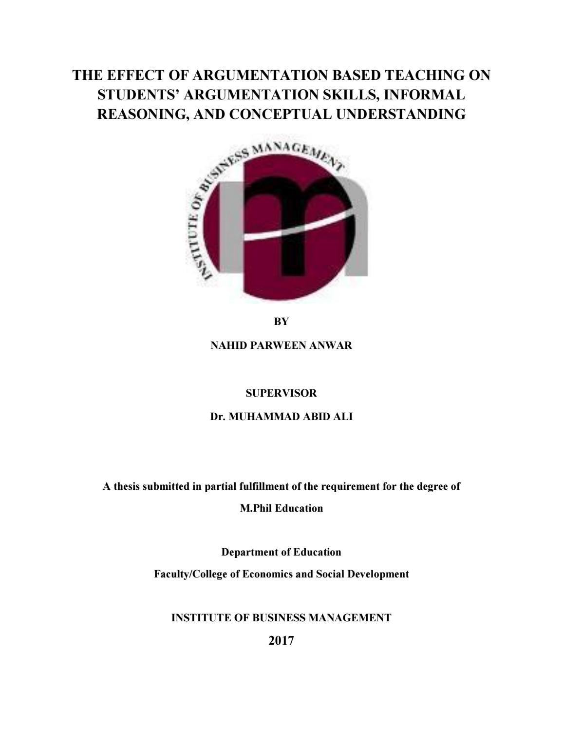 Final thesis nahid by IoBM issuu