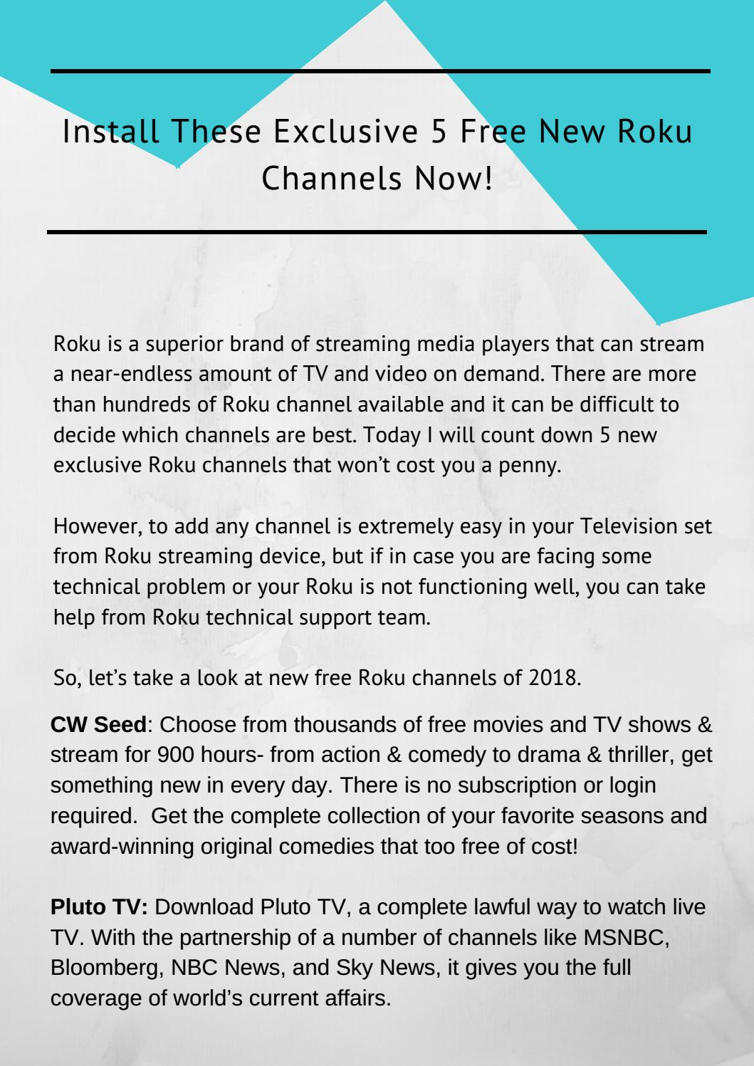 Avail Support Services to Add Channels on Roku- Call @1-800