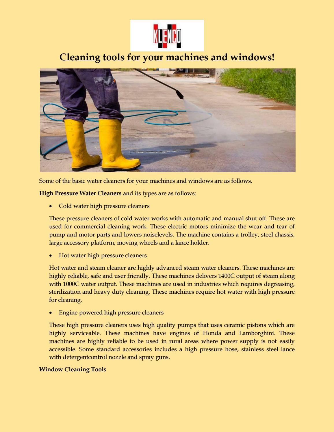 Cleaning tools for your machines and windows by klencoasia