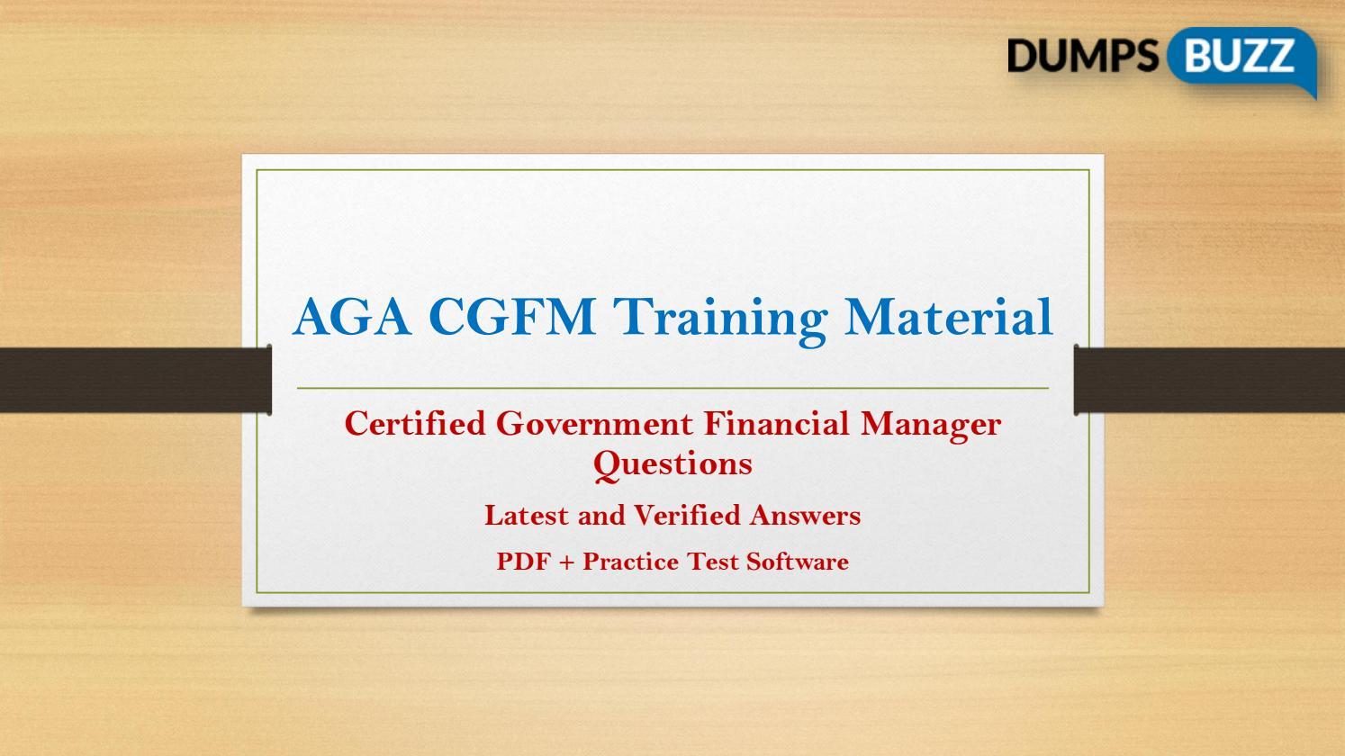 Immediate Buy Cgfm Pdf Vce Exam Dumps By Gemmadoorly420 Issuu