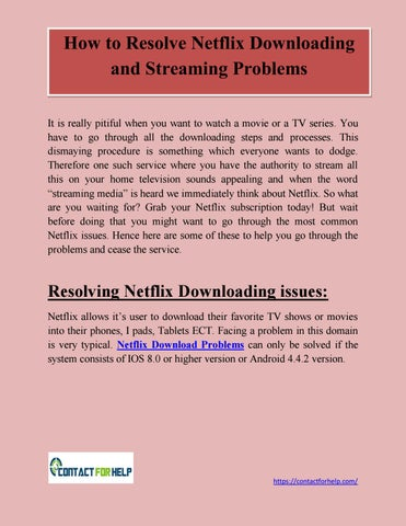 How to Resolve Netflix Downloading and Streaming problems by