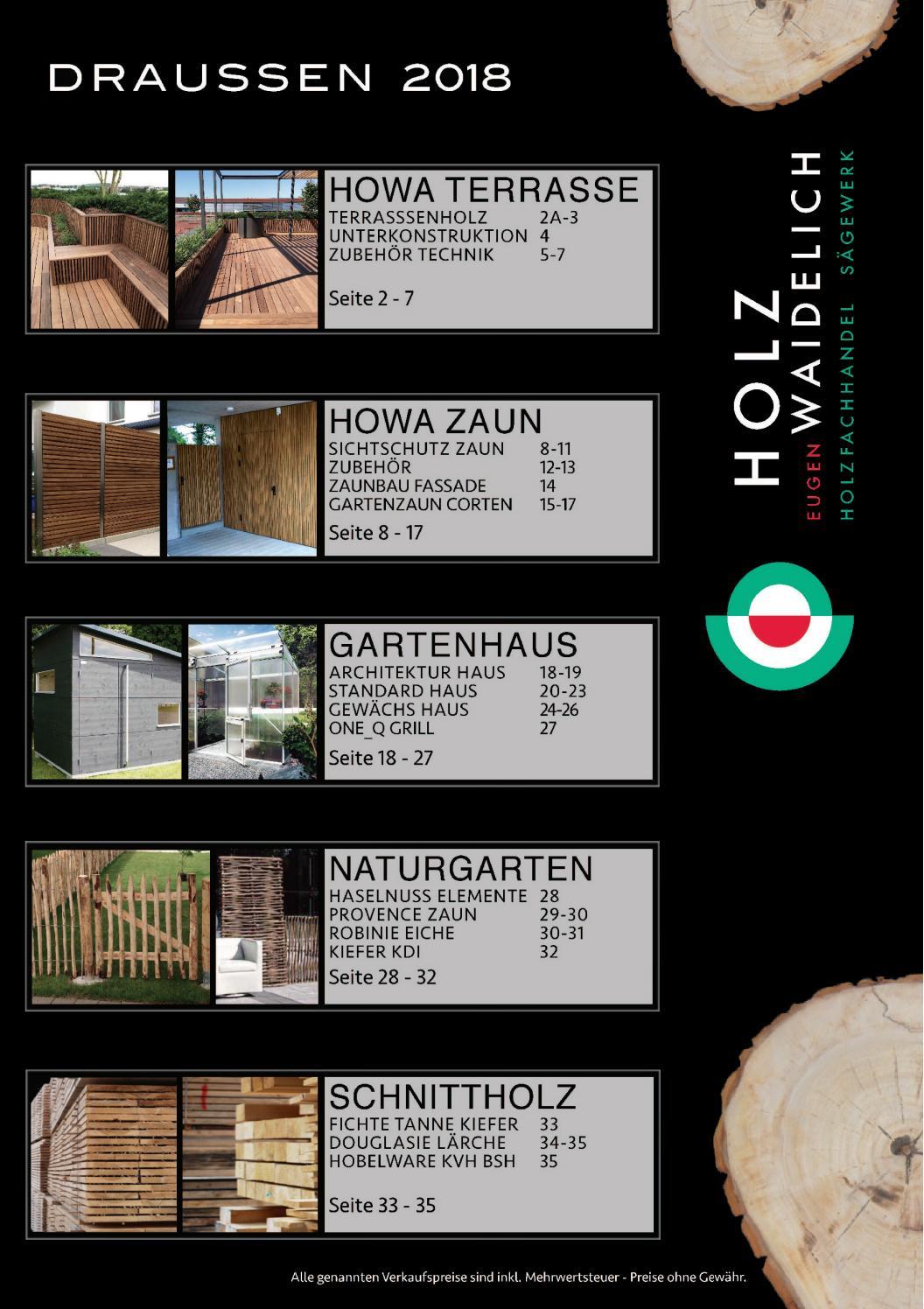 Holz Waidelich Draussen Katalog 2018 By Holzboeden Issuu