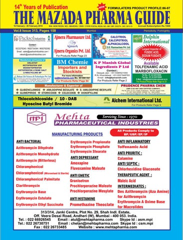 The Mazada Pharma Guide - 16th June to 22nd June 2014 by The Mazada