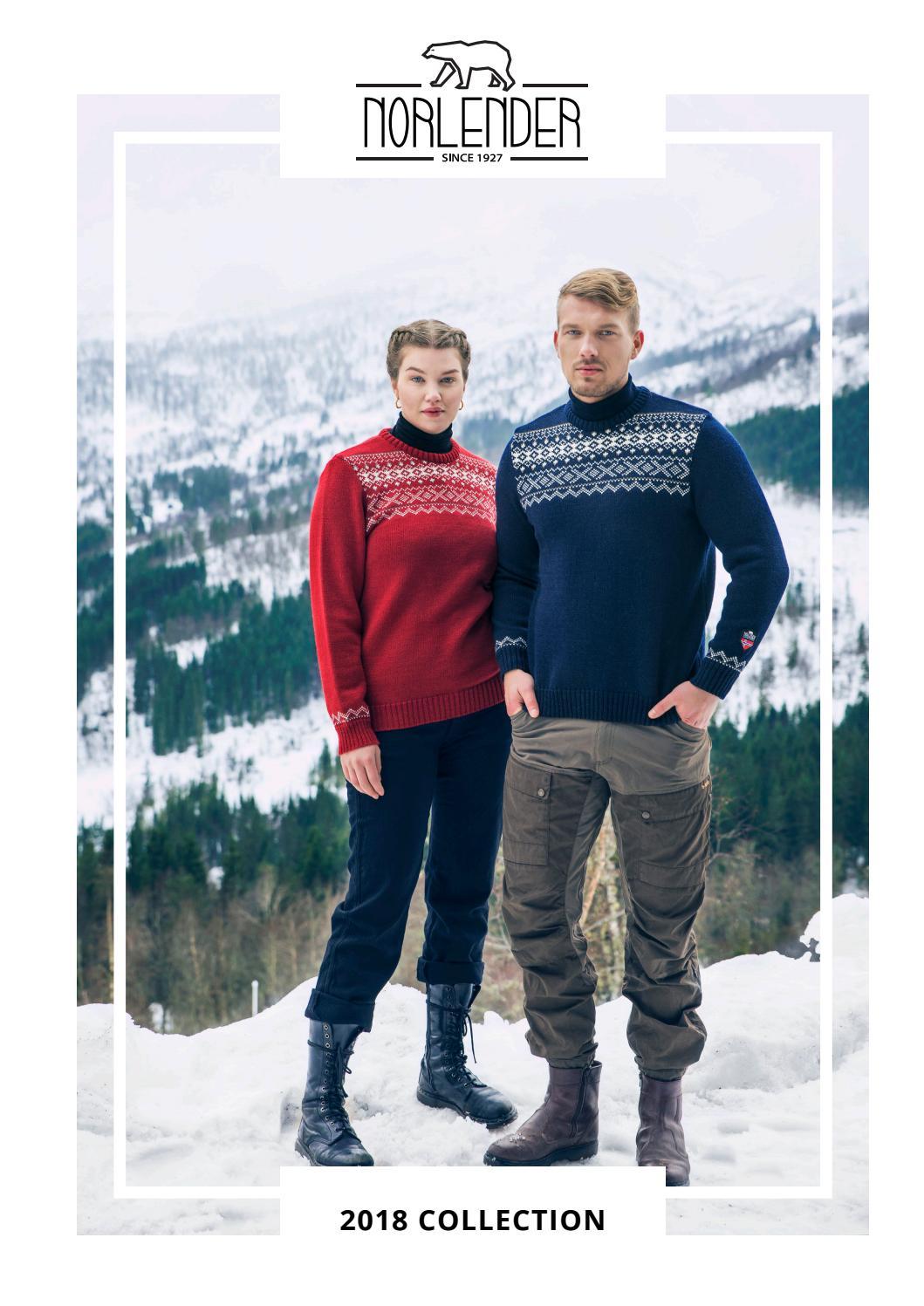 Norwegian Svalbard Jumper by Norlender – 100/% Wool Crew Knit Navy /& White