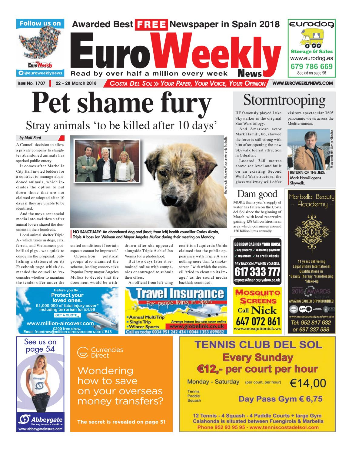Euro Weekly News - Costa del Sol 22 - 28 March 2018 Issue 1707 by ...