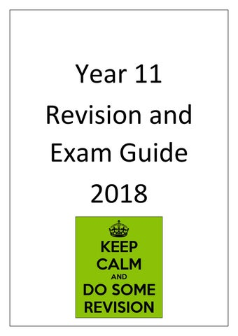 Year 11 Revision Exam Guide 2018 By Schudio Issuu