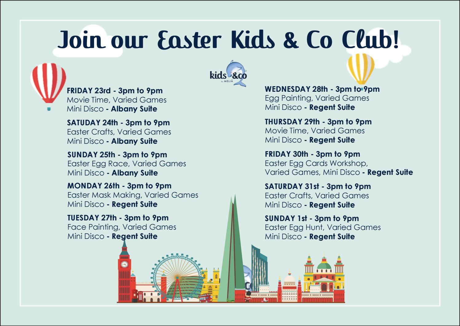 Kids Co Easter Workshops 2018 By Melia Hotels International Issuu