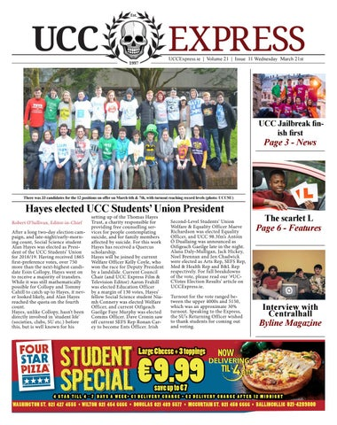 UCC Express Vol  21 Issue 11 by University Express - issuu