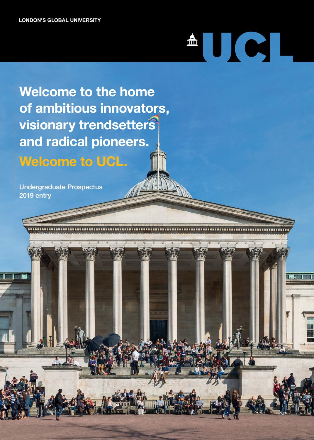 Ucl Undergraduate Prospectus 2019 Entry By Ucl Student Recruitment