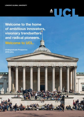 UCL Undergraduate Prospectus 2019 entry by UCL Student Recruitment ...