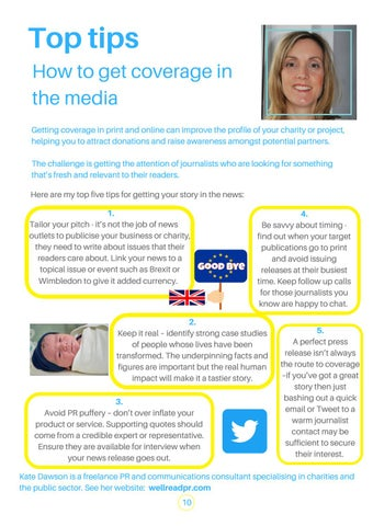 Page 10 of Top Tips for getting in the media