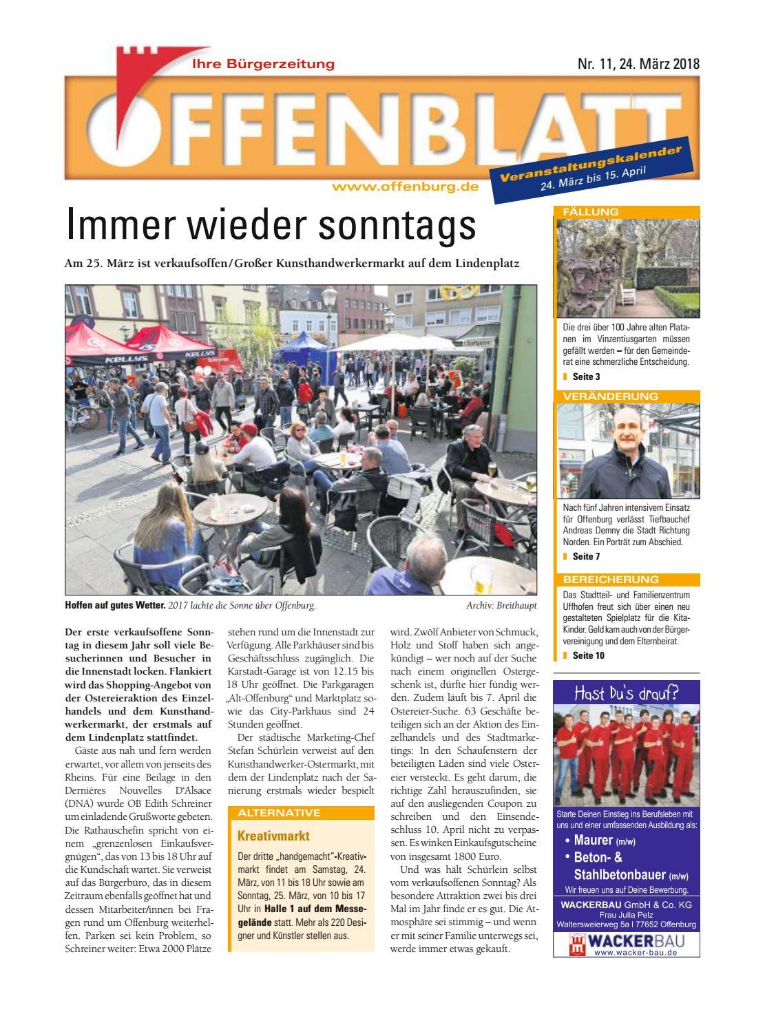 Offenblatt 11 2018 by Offenburg Offenblatt - issuu
