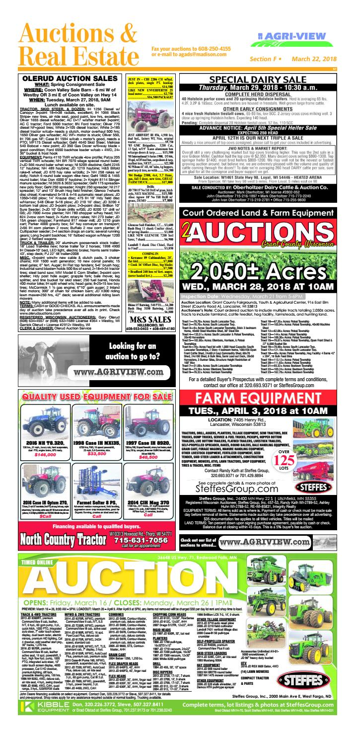 March 22, 2018 Auctions & Real Estate by Madison com - issuu