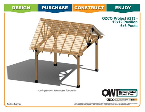 OZCO Project 12x12 Pavilion With 6x6 Posts #213 by OZCO Building