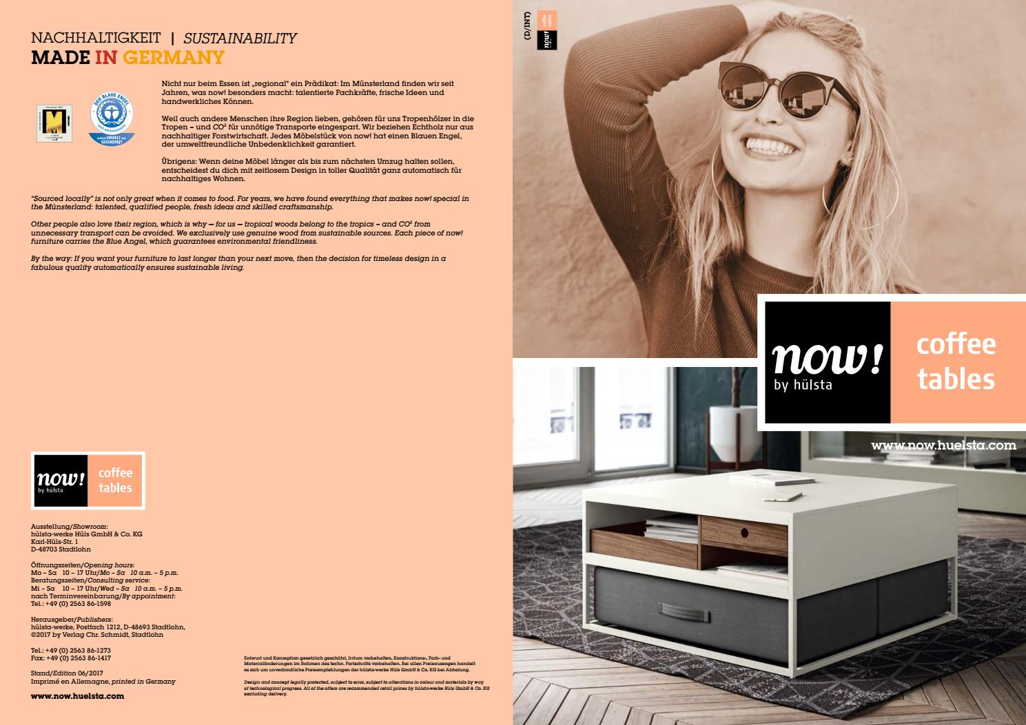 Hülsta Now Coffee Tables Brochure By Innoconcept Design Issuu