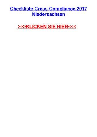 Checkliste Cross Compliance 2017 Niedersachsen By Emilyowppm Issuu