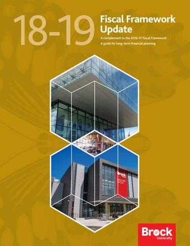 2018-19 Fiscal Framework Update by Brock University - issuu