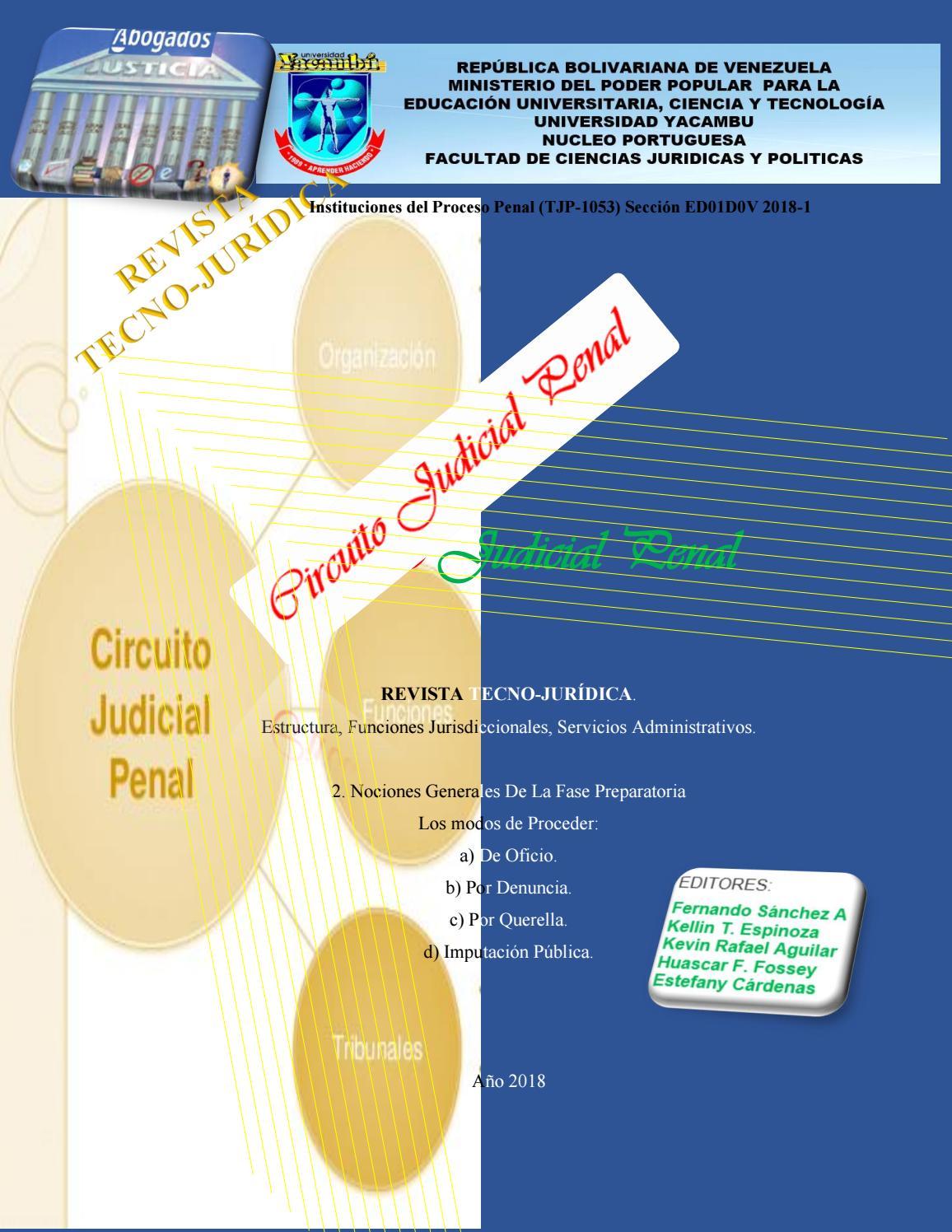 Circuito Judicial Penal : Revista tecno jurídica circuito judicial penal revista azul grupo