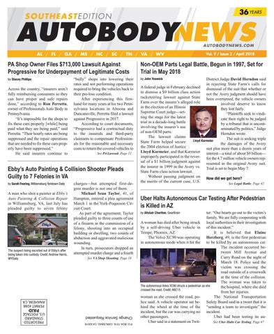 April 2018 Southeastern Edition by Autobody News - issuu