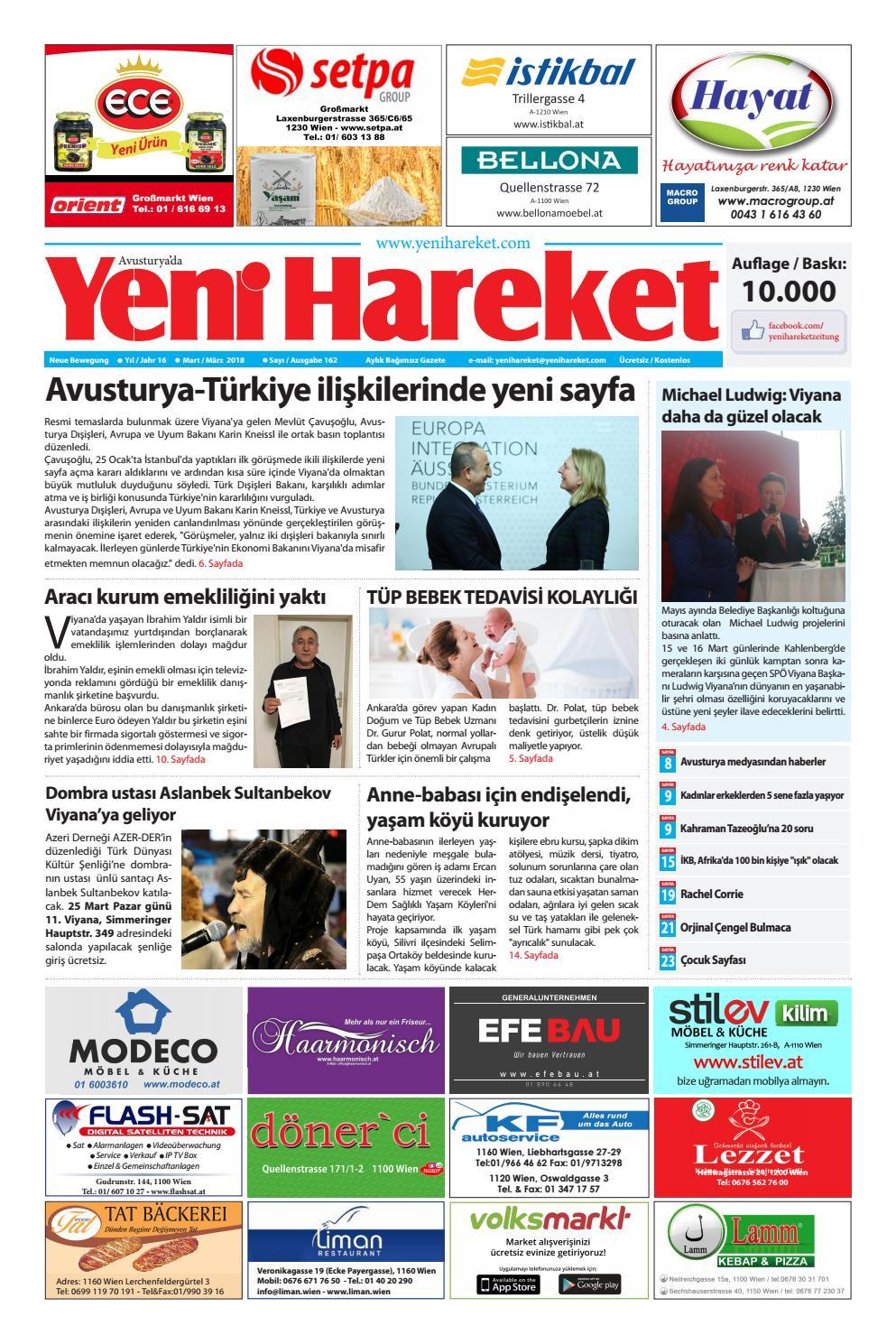 Yeni Hareket Gazetesi Mart 2018 Neue Bewegungszeitung Marz 2018
