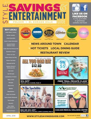 Style Savings Entertainment Guide Folsom El Dorado Hills April