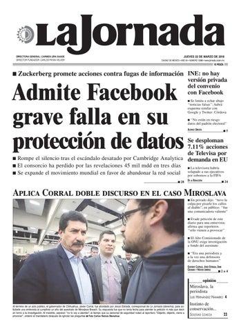La Jornada 03 22 2018 By La Jornada Issuu
