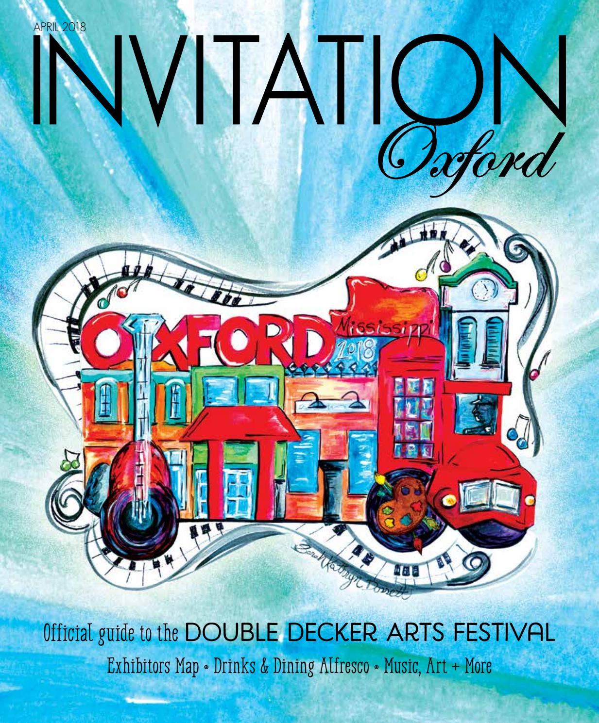 Invitation Oxford - April 2018 by Invitation Magazines - Issuu