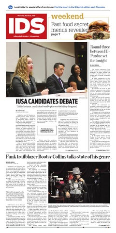 Thursday, March 22, 2018 by Indiana Daily Student - idsnews
