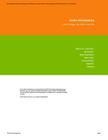 Ps2 service manual scph 70000 series by send22u09 issuu thor3 program eb fandeluxe Gallery