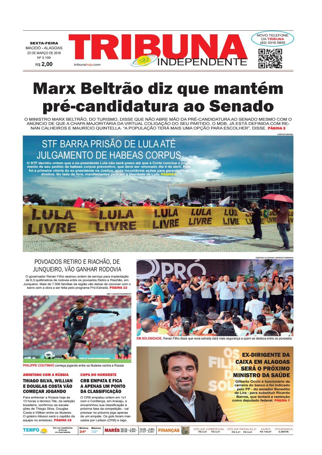 Edição número 3109 - 23 de março de 2018 by Tribuna Hoje - issuu e735750c5ad47
