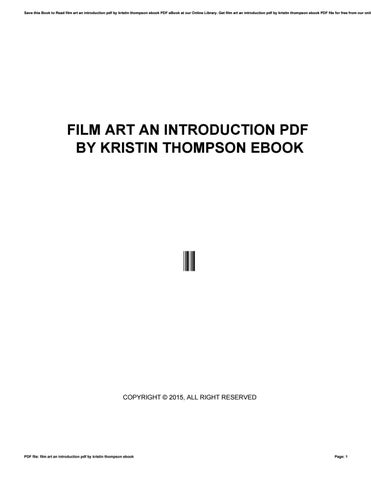 Film Art An Introduction Ebook