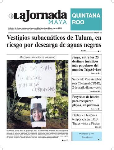 8cd2fc4ca3173 La jornada maya · viernes 23 de marzo de 2018 by La Jornada Maya - issuu