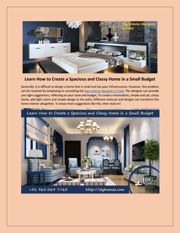 Hire The Best Interior Designer In India By Idg Homez Interior Designers Issuu