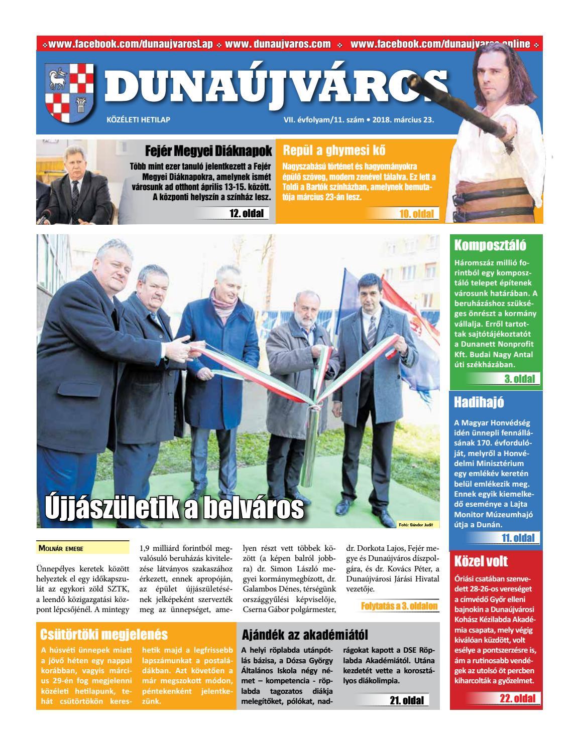 Dkh 2018 03 23 by Dunaújváros Közéleti Hetilapja - issuu 8924c143cd