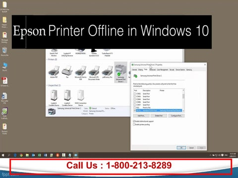Call 1 800 213 82289 to fix epson printer offline on windows 10 by