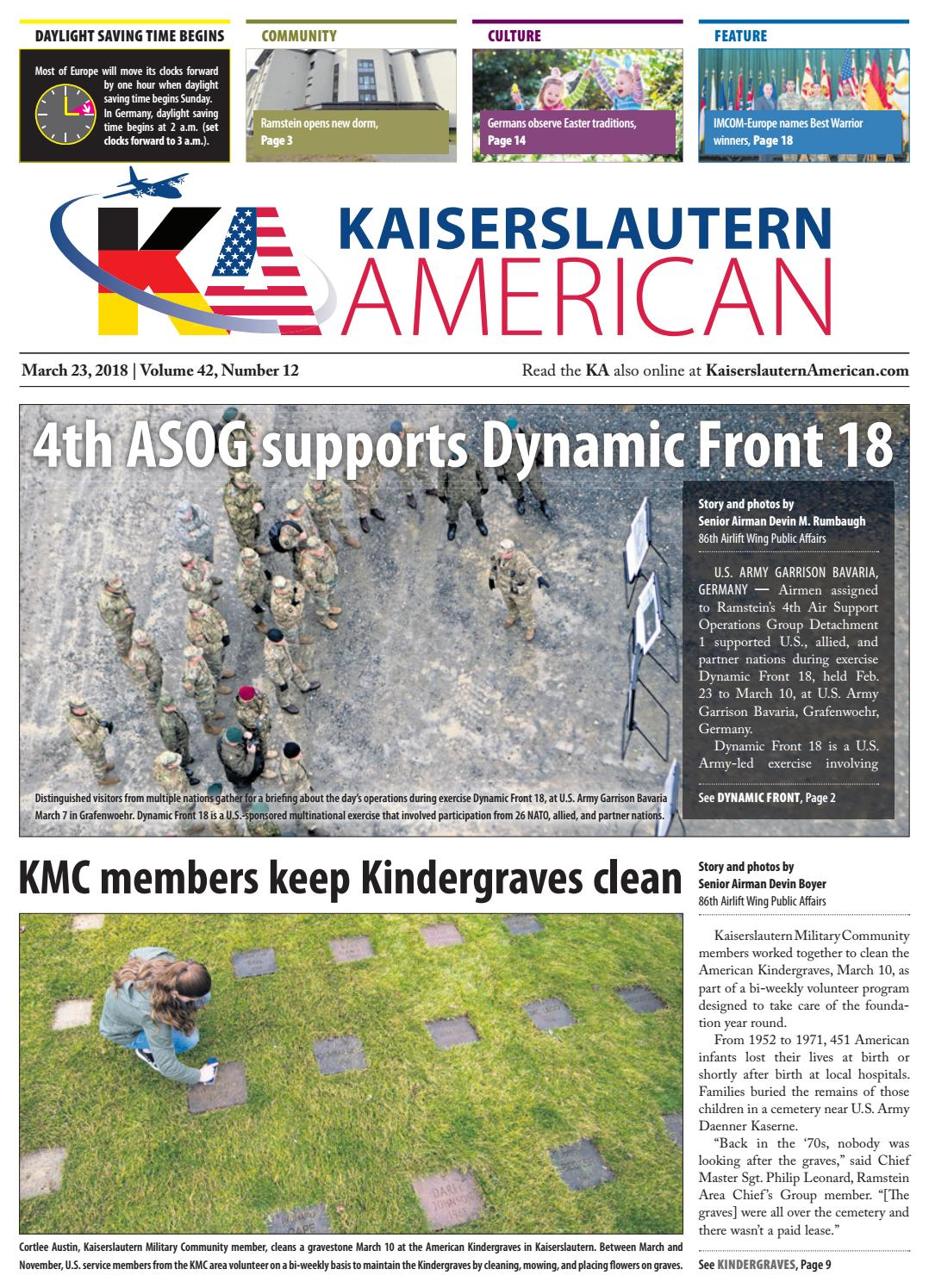 Kaiserslautern American March 23 2018 By Advantipro Gmbh Issuu Electric Guitar Wiring For Dummies Free As Well Volvo Wx