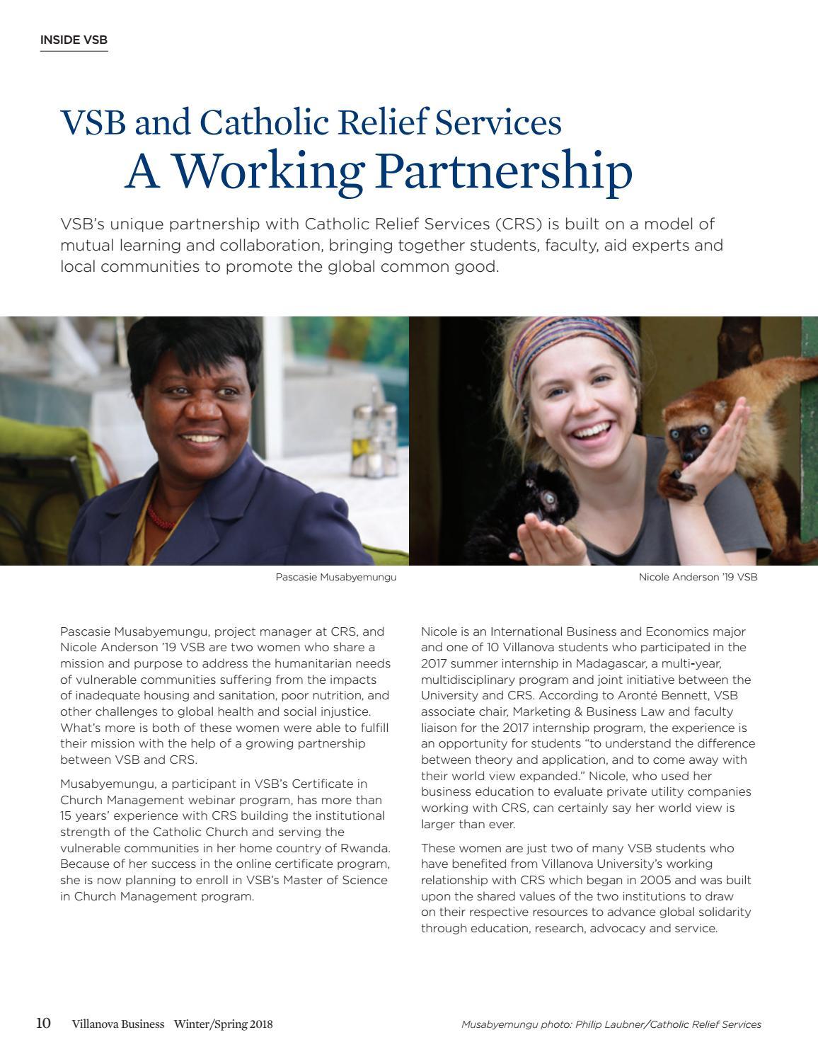 Winterspring Villanova Business Magazine 2018 By Villanova School