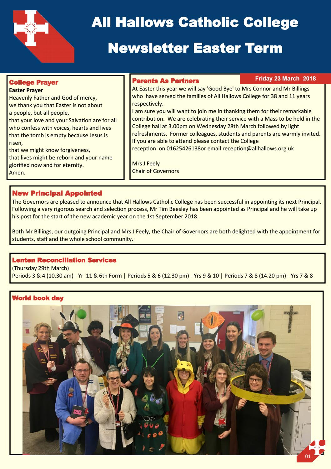 23 march by All Hallows Catholic College - issuu
