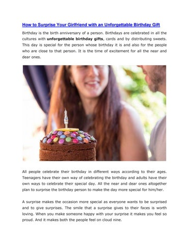 How To Surprise Your Girlfriend With An Unforgettable Birthday Gift Is The Birth Anniversary Of A Person Birthdays Are Celebrated In All