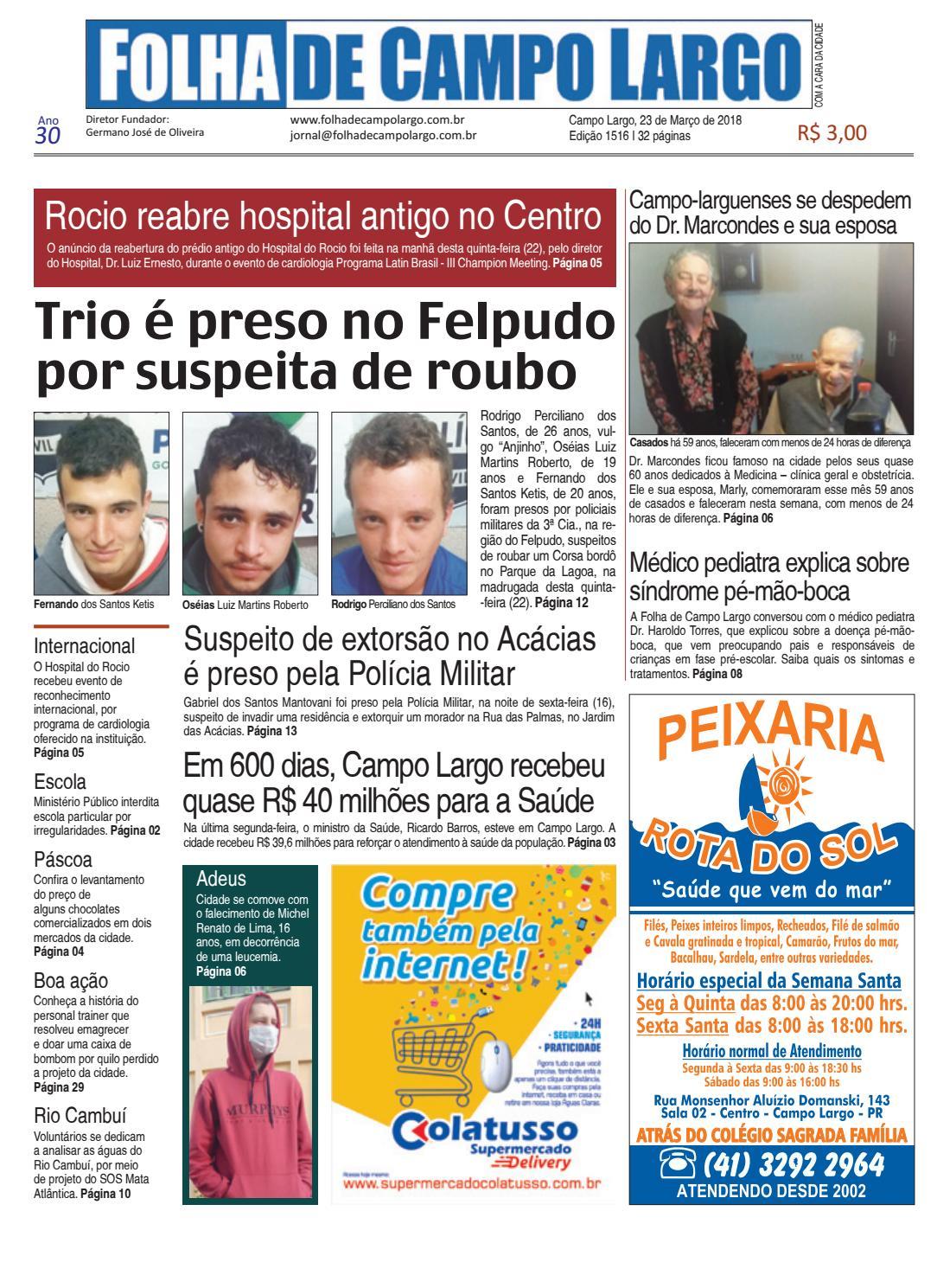 668a119fa3 Folha de Campo Largo by Folha de Campo Largo - issuu