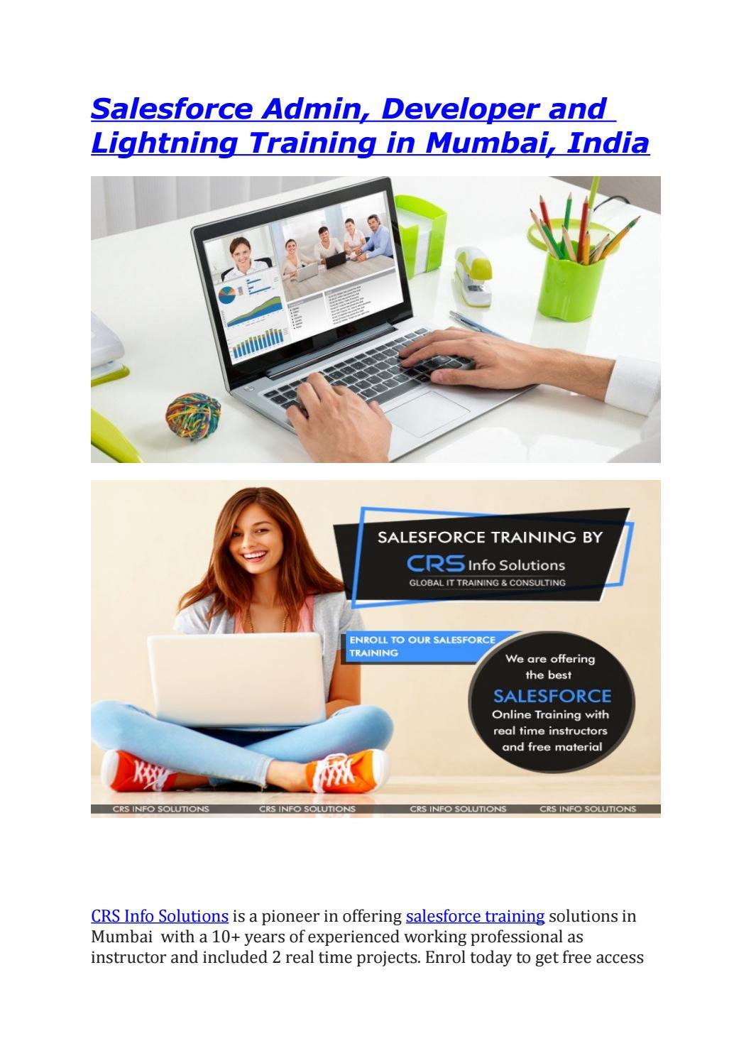 Salesforce(admin, developer and lightning) Online training