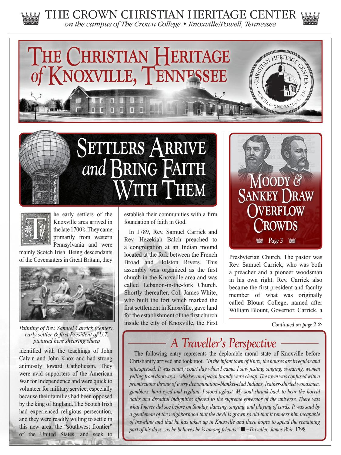 Knoxville's Christian Heritage Brochure by Ryan Keiter - issuu