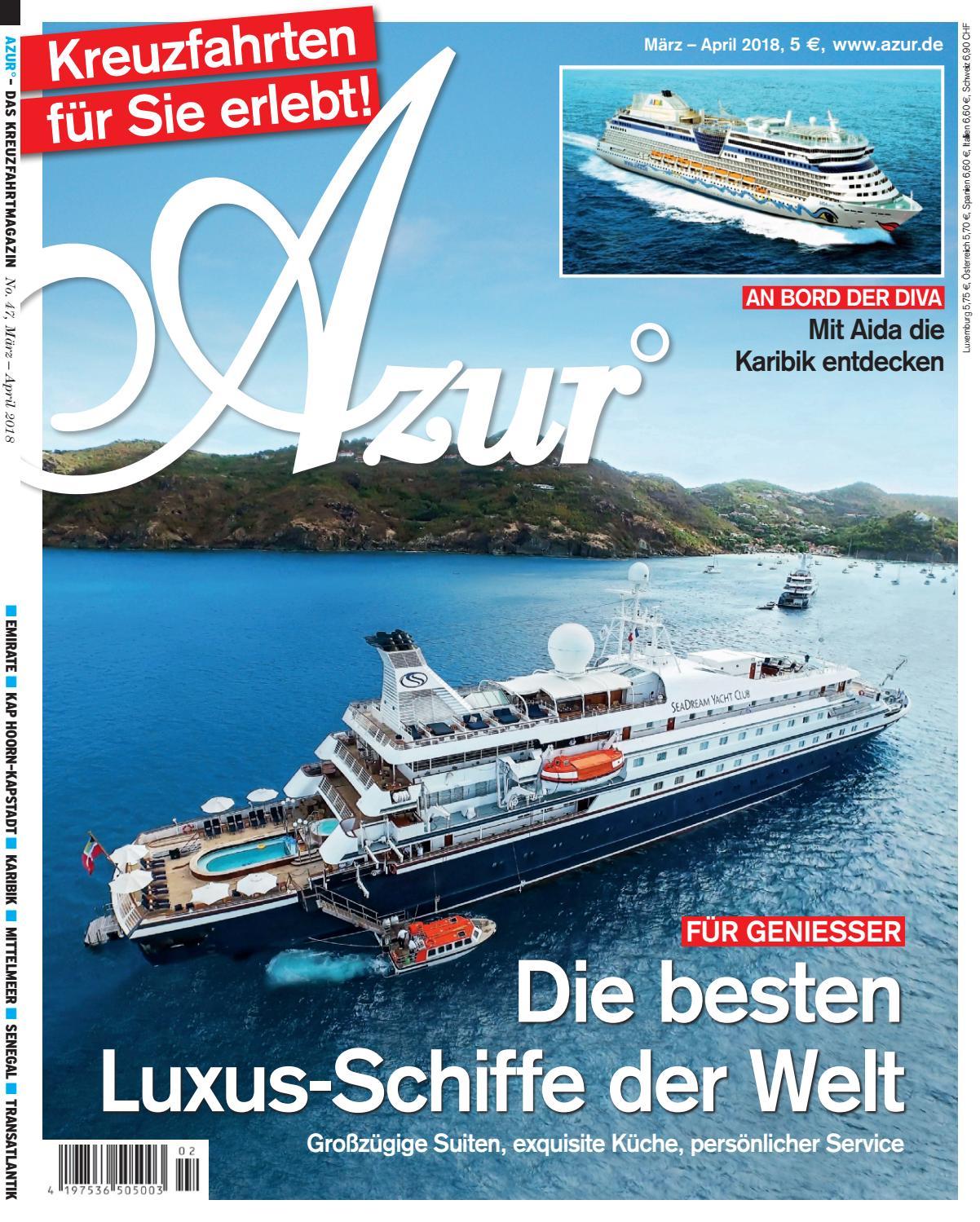 AZUR 2/18 by Azur - Das Kreuzfahrtmagazin - issuu