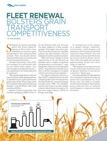 Page 16 of Great Lakes fleet renewal improves grain transport competitiveness