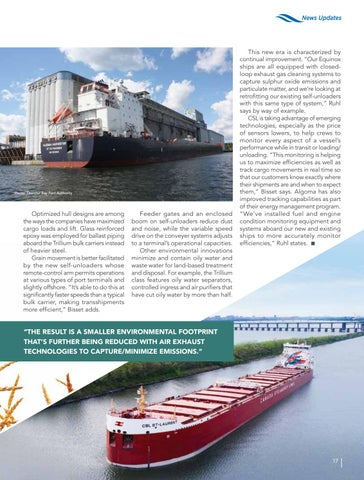 Page 17 of Great Lakes fleet renewal improves grain transport competitiveness