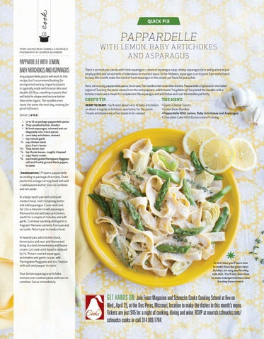 Page 58 of Pappardelle with Lemon, Baby Artichokes, and Asparagus