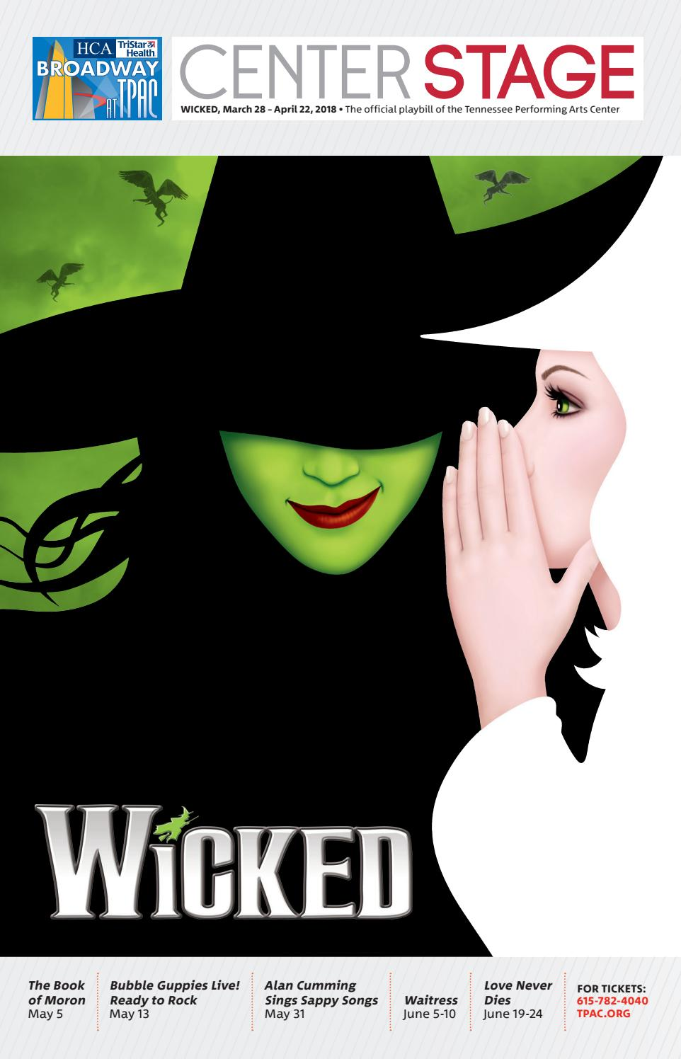 TPAC Broadway Wicked by Performing Arts Magazines of