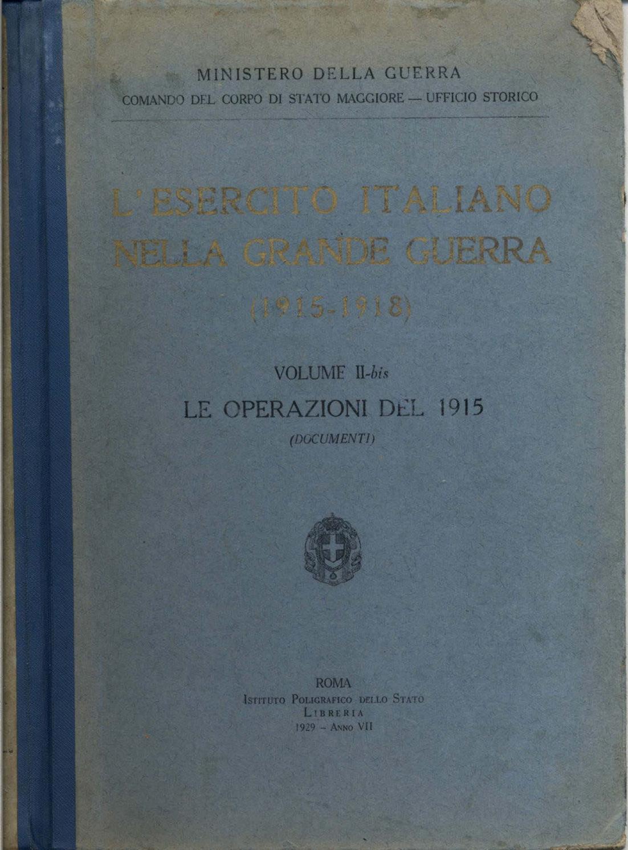 L ESERCITO ITALIANO NELLA GRANDE GUERRA - VOL. II tomo 1 bis by Biblioteca  Militare - issuu 4c30dc0e4bfa