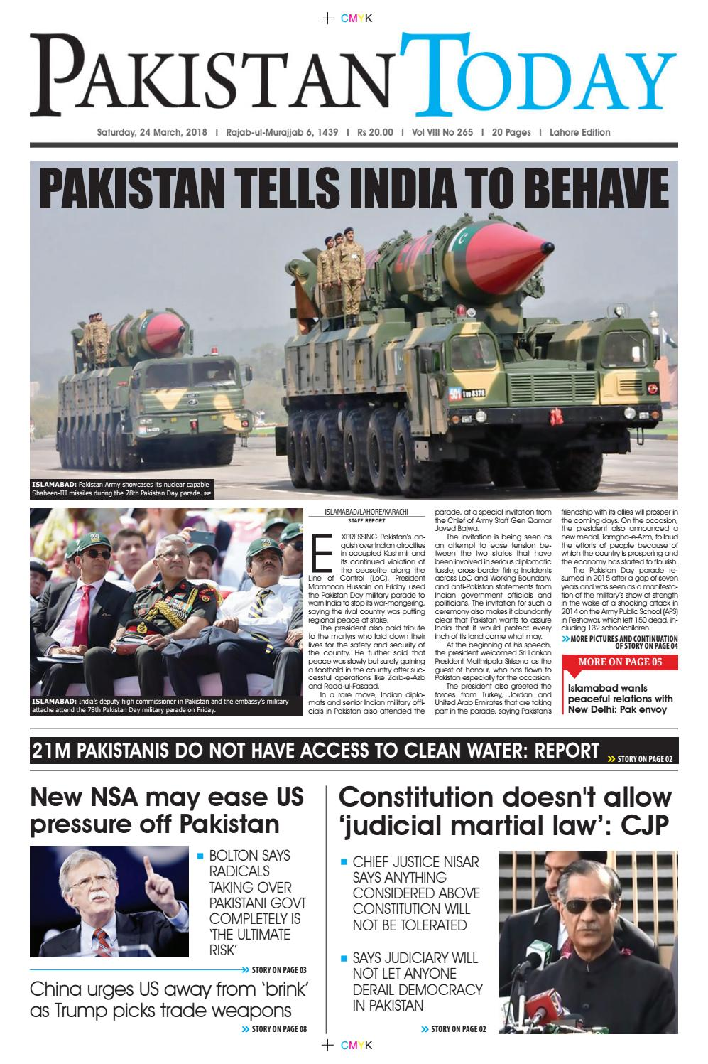 E paper pdf 24th march (lhr) by Pakistan Today - issuu