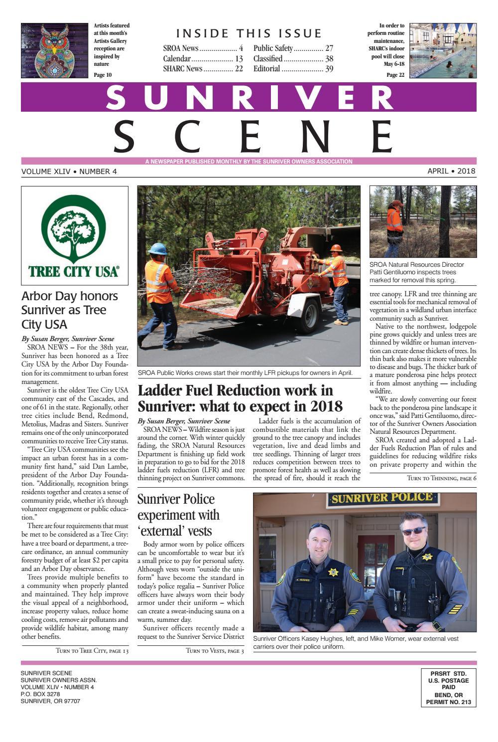 8239cb23a2b2 Sunriver Scene April 2018 by Sunriver Scene - issuu